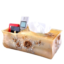 Fashion storage box quality Large resin cosmetic desktop remote control finishing