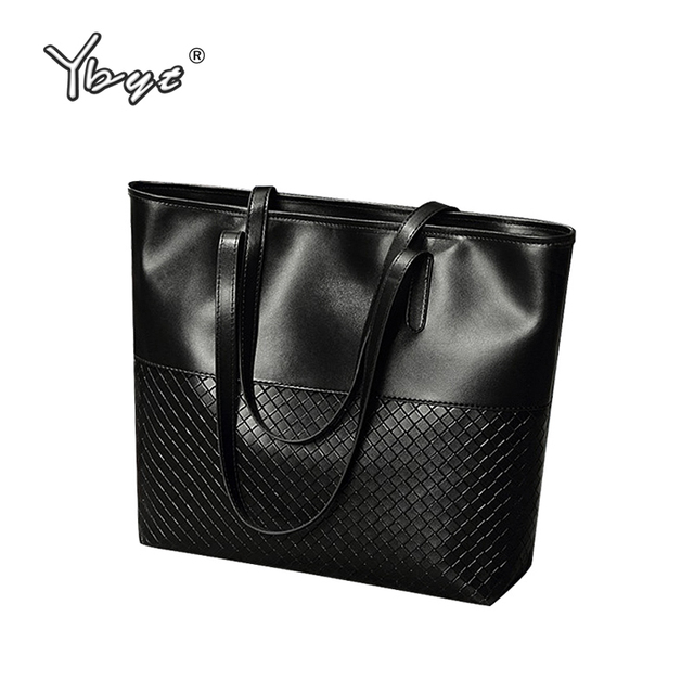 YBYT brand 2017 new tote knitting medium handbag hotsale ladies party purse wedding clutch vintage women shoulder shopping bags