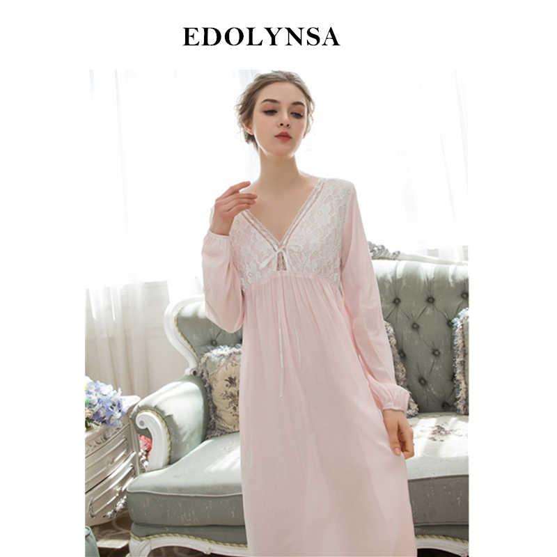 b3dedeee6292 Ночные сорочки трусы 2019 сна и ночная рубашка Симпатичные Ночная рубашка  Женский Ночная одежда Solid пижамы