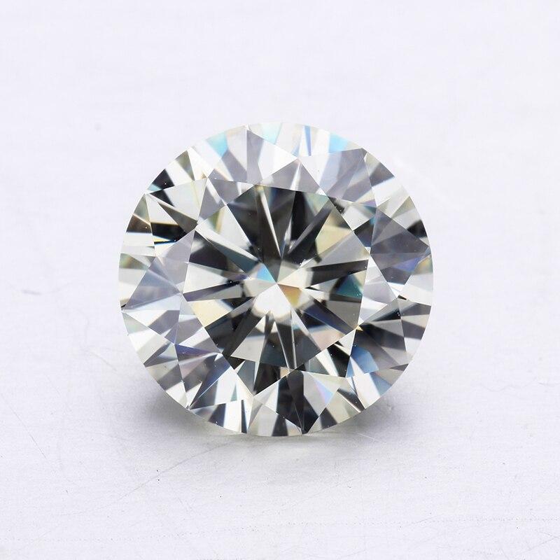 1ct Off White I J Color 6 5mm Moissanites Diamonds Lower