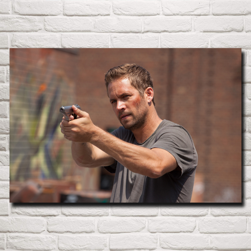paul walker movies brick mansions art silk poster print home decor