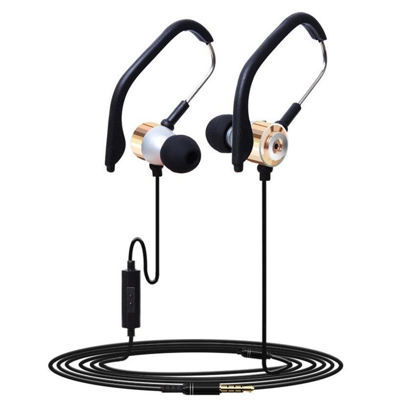 Best Price 3.5mm In Ear Clip On Sport W/ Mic Stereo Earphone Jogging Headphone