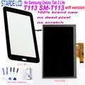 Starde LCD para Samsung Galaxy Tab 3 Lite T113 SM-T113 versión Wifi pantalla LCD Digitalizador de pantalla táctil sentido con herramientas libres