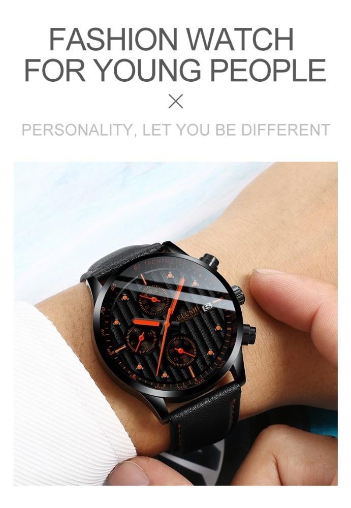HTB13MDqaJzvK1RkSnfoq6zMwVXas Luxury Men's Quartz Watch Sport Casual Wristwatch Men Military Watches Clock Man Leather Wrist Watch Date Waterproof 30M Relogio