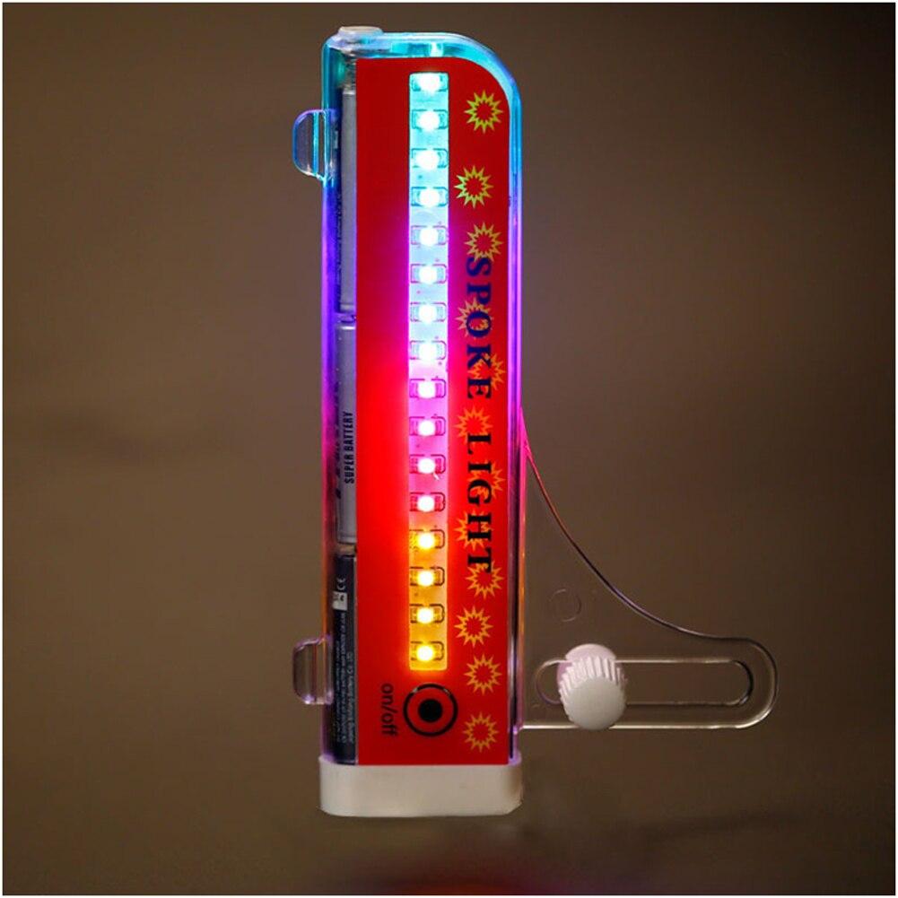 Bicycle Lamp 32 RGB LED Wheel Display Spoke Light Double 21 Flash Patterns Lights Rim Rainbow Tire Bike
