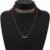 Leather charm collar de cristal de nueva za choker collar mujeres special diseño de moda collar de accesorios de la joyería
