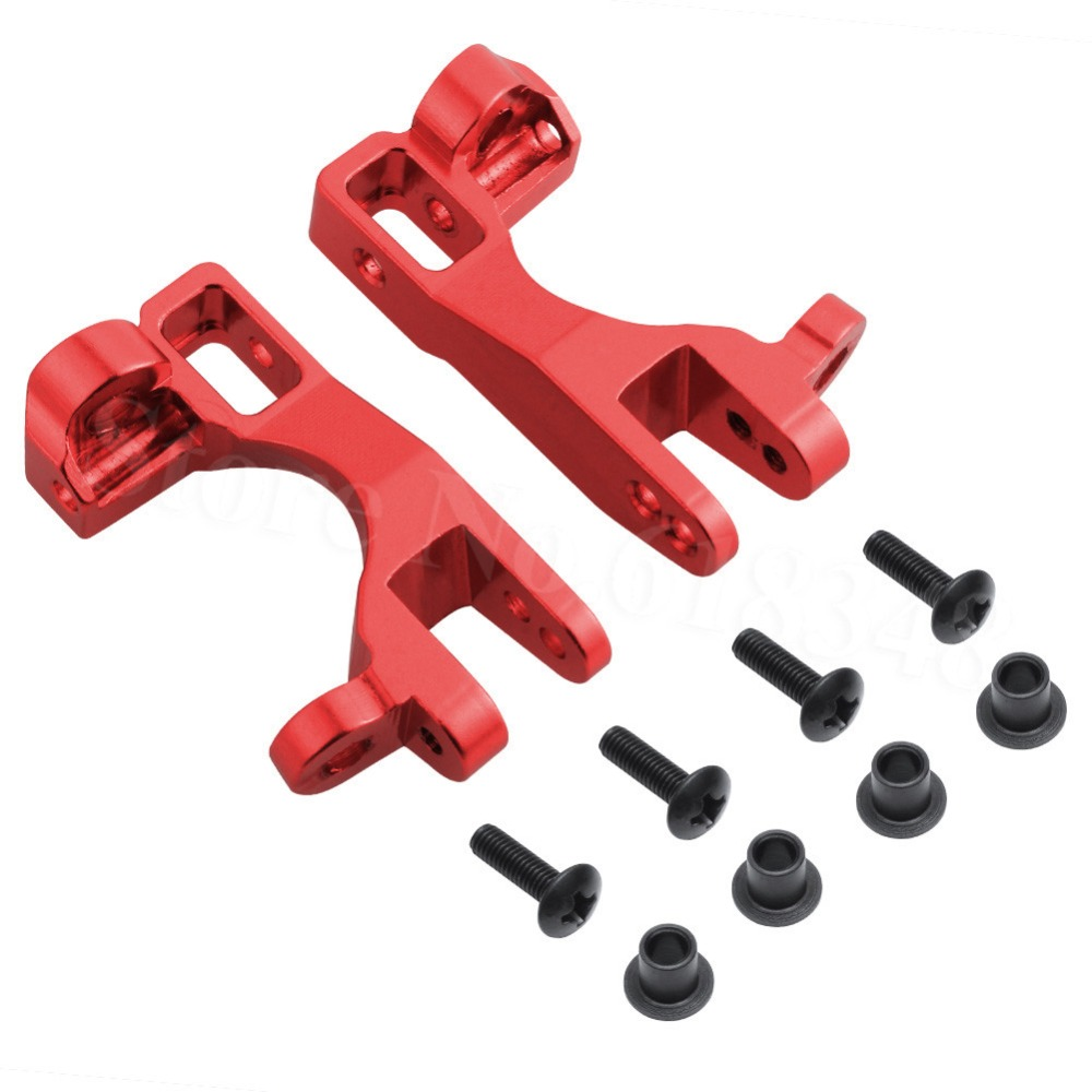 1/10 Traxxas Slash 4x4 Aluminum Left and Right Front Caster Blocks C-Hubs (Part # 6832X) Upgrade OP Parts Fit Stampede LCG/RALLY rcsuqare hardened steel rear cvd axles set for traxxas slash stampede 4x4 rally