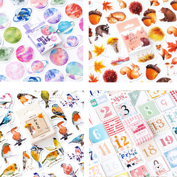 45pcs/lbox New forest animal paper sticker decoration stickers DIY Notebook Ablum diary scrapbooking label sticker stationery 45pcs pack magic rabbit alice sticker mini paper diary label sealing scrapbooking decoration diy album stickers stationery