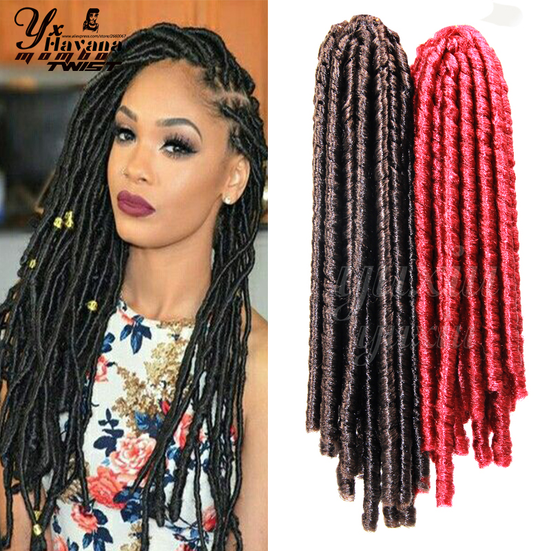 12u0026quot; Synthetic Soft Dread Crochet Braids Dreadlocks Braids Hair Extension Faux Locs Crochet ...