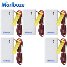 5pcs/lot Marlboze 433mhz Wireless Water Leak Detector Intrusion Sensor work with Home Security GSM Alarm System with Battery