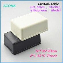 Szomk Небольшой АБС Проект Box (6 шт.) 51*36*20 мм пластиковый корпус приборные управления abs пластиковые корпуса для электроники
