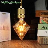 Diament edison żarówka LED projekt M nowość żarnik żarnika wakacje światła lampy kolacja ciepły lampa led e27 220 v AC85-265V 4 W