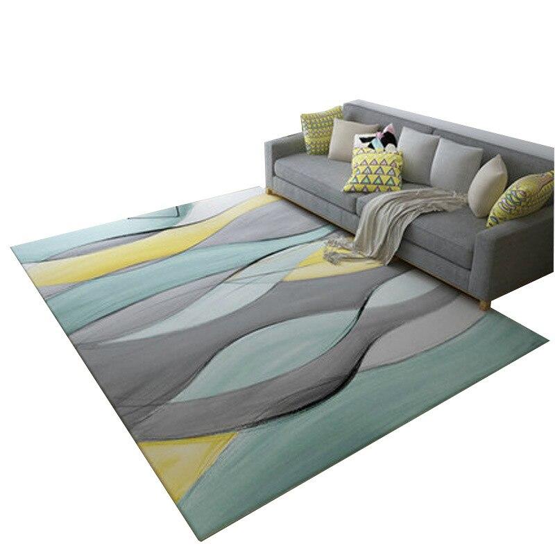 Nordique minimaliste table basse salon tapis imprimé enfants ramper tapis personnalisé chambre tapis de sol en peluche tapis antidérapant - 6