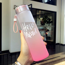 New Plastic Bottle for Water Sport 500ml Portable Rope Kids Drinkware Outdoor Leak Proof Seal Gourde Climbing Water Bottles 500ml frosted portable seal bottles plastic sports water bottle leak proof bike outdoor climbing gift high quality sby8011