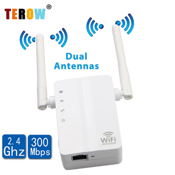TEROW WiFi Repeater Wireless Signal Amplifier 300M Wi-Fi Range Extander 2.4G Repetidor wifi 802.11N/B/G Signal Booster AP/WPS