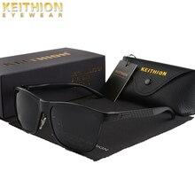 KEITHION Trending Styles Aluminium Magnesium Square Men Sunglasses Polarized Sun Glasses for Sport Eyewear