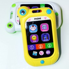 3 Colors Baby Phone Toy Learning & Educational Sound Music Toys Smartphone Model Talking Toys For Kids Mobile Cell Phone Toy(China)