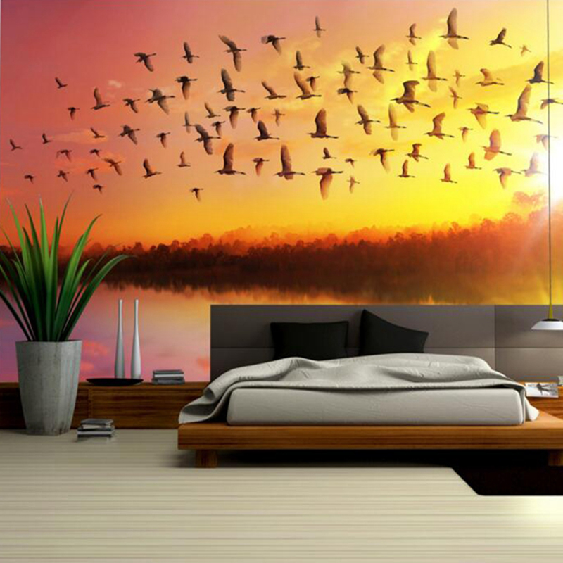 Wall Decor Home Goods: Girls Bedroom Wall Art Sunrise Sky Soaring Removable Wall