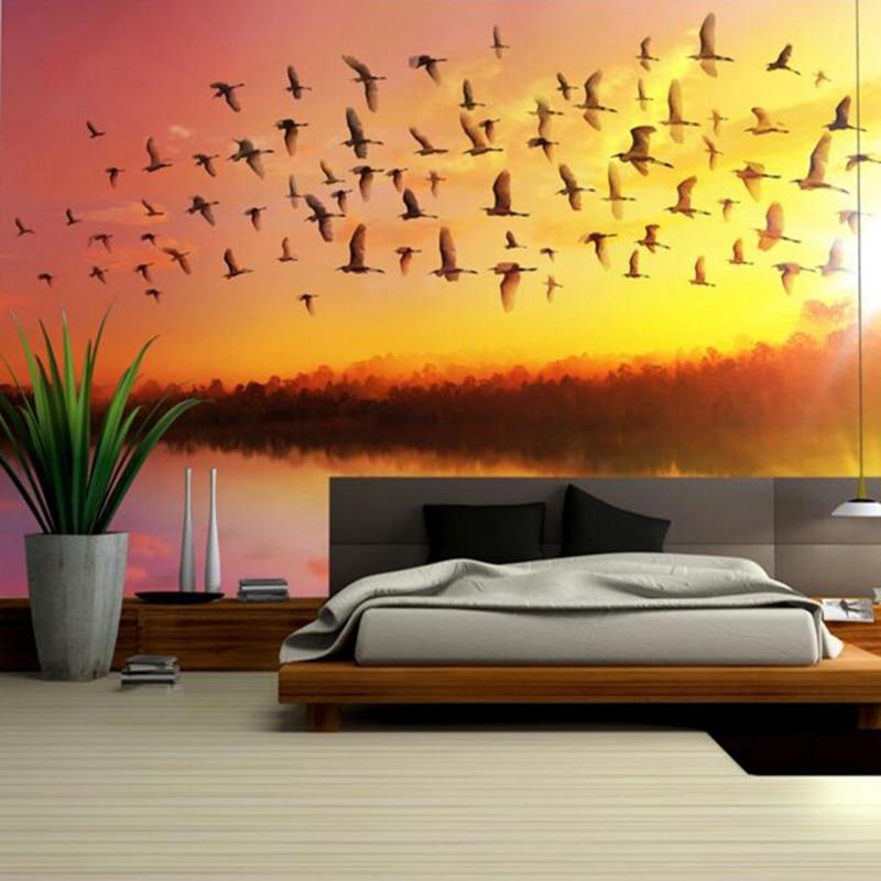 Girls Bedroom Wall Art Sunrise Sky Soaring Removable Wall