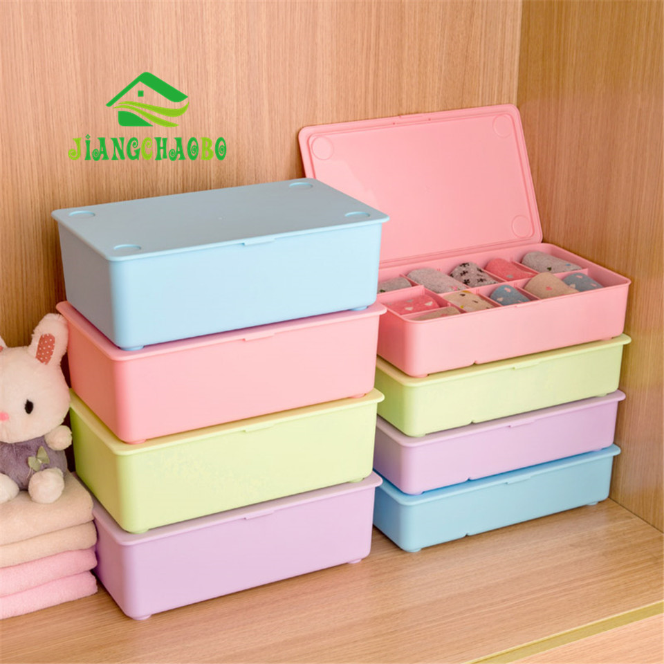 Home Storage Boxes For Underwear Socks Ties Bra Closet Divider Plastic  Storage Box With Cover Organizer Container  In Storage Boxes U0026 Bins From  Home ...