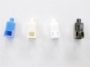 Image 2 - Bộ 100 sợi LC chống bụi tai trắng cho LC quang nối Suy hao bảo vệ cắm nhựa trắng miễn phí vận chuyển SX ELINK