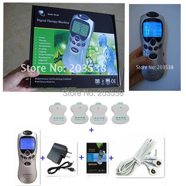 Mit Englischen Kleinkasten Tens/Akupunktur/Digital-therapie-gerät Massagegerät Impuls Massagegerät Mit 4 selbst Elektrodenpads