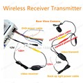 Free shipping 2.4 Ghz Wireless VideoTransmitter Receiver Kit For CarMonitor To Connect The Car Rear View Camera Reverse Back up