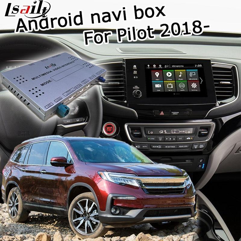 Lsailt Android GPS navigation box for Honda Pilot high end 2018 video interface box mirror link youtube waze yandex navi