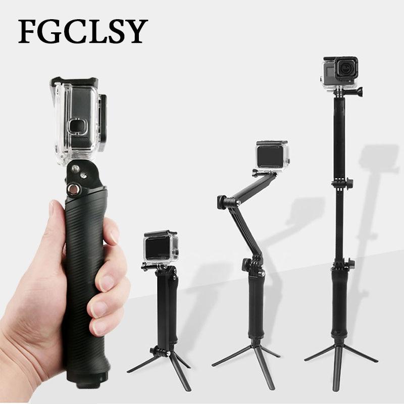FGCLSY Waterproof Selfie Stick For Gopro Hero 6 5 4 Session SJ4000 Pau Palo Monopod Extension Arm Tripod For xiaomi yi 4K Camera stars 80 pau