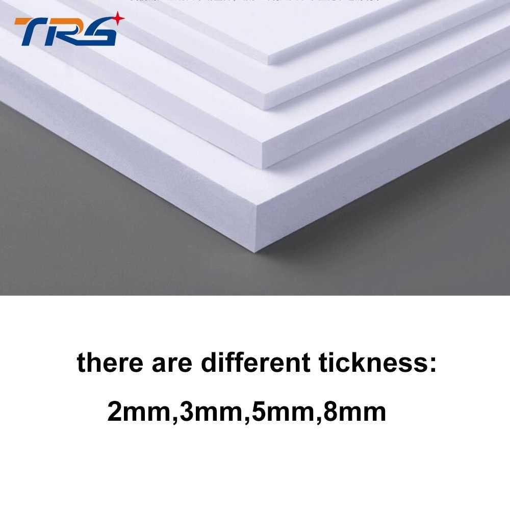 2pcs/lot 300x400mm PVC foam board plastic sheet board white