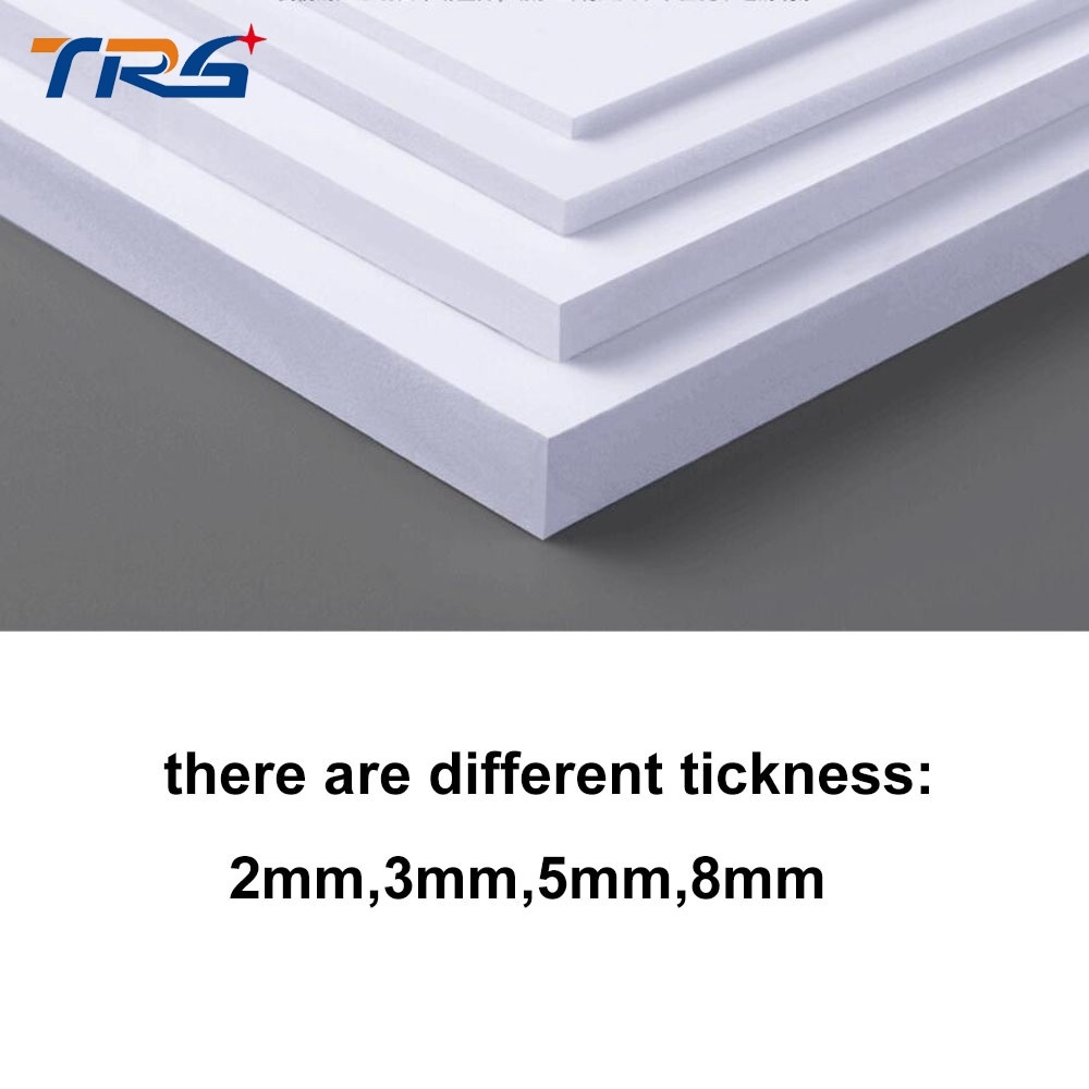 2pcs/lot  300x400mm PVC foam board plastic sheet board white color foamboard model plate