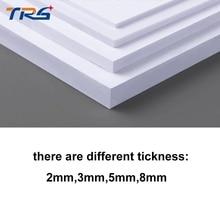 Teraysun 2 pçs/lote 300x400mm placa de espuma de PVC folha de plástico plana folha de placa de espuma de cor branca placa modelo