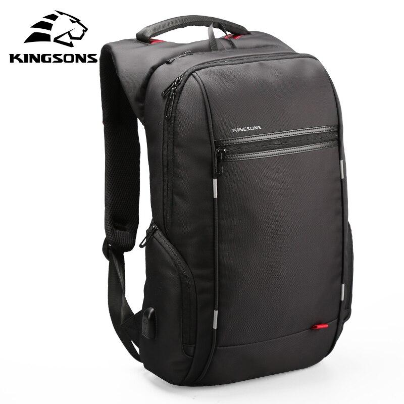 Kingsons 15 zoll Laptop Rucksäcke USB Lade Anti Diebstahl Rucksack Männer Reisen Rucksack Wasser Abweisend Schule Taschen Männlichen Mochila