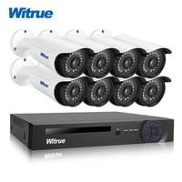 Witrue 8CH Surveilllance Kit 1080P AHD DVR Sony IMX323 Security Camera Infrared Outdoor Waterproof CCTV Surveillance