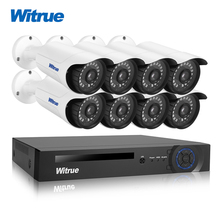 Witrue 8CH Surveilllance Kiti 1080 P AHD DVR Sony IMX323 Güvenlik Kamera Kızılötesi Açık Su Geçirmez CCTV Gözetim Sistemi