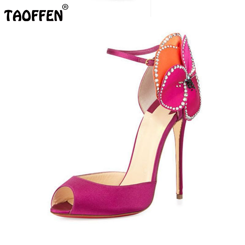 ultra high heels sexy shoes women thin high heel sandals peep open toe brand fashion flower lady footwear size 34-43 PA00187 fashion sexy transparent sandals set auger chain ultra slim heel sandals 12 appeal runway show shoes on sale
