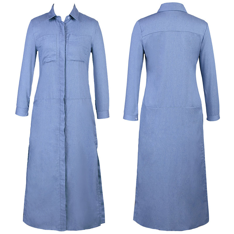 2d1c2c66a9 Denim Dresses Women Plus Size Dress Long Sleeve Maxi Dress Shirt Vestido  Jeans 2018 Robe Femme Boho Harajuku Vintage Sexy Tunic-in Dresses from  Women's ...