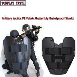UHMWPE mariposa escudo balístico SWAT policía autodefensa nij iiia plegable escudo de protección militar productos de seguridad táctica