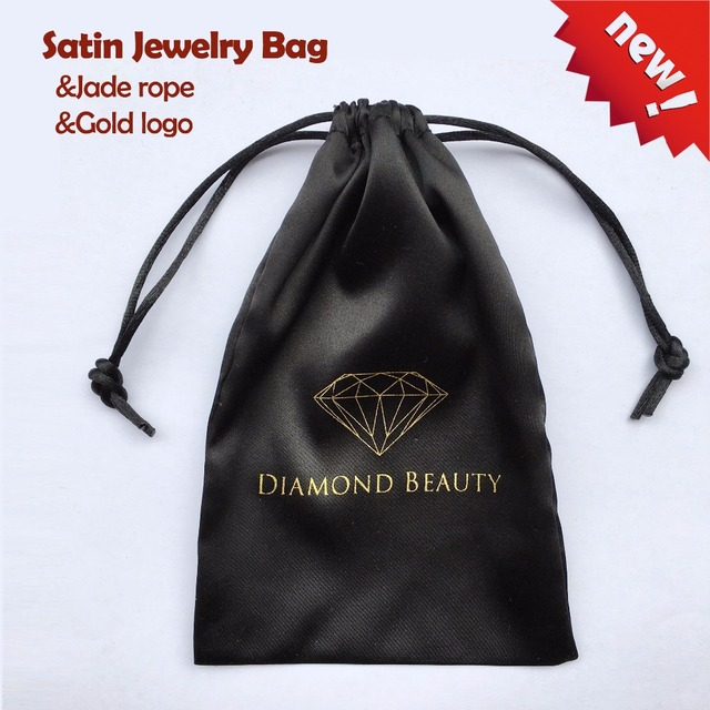Very 100PCS Satin Drawstring Bag Silk Jewelry Pouch Jade Rope Custom  JM81
