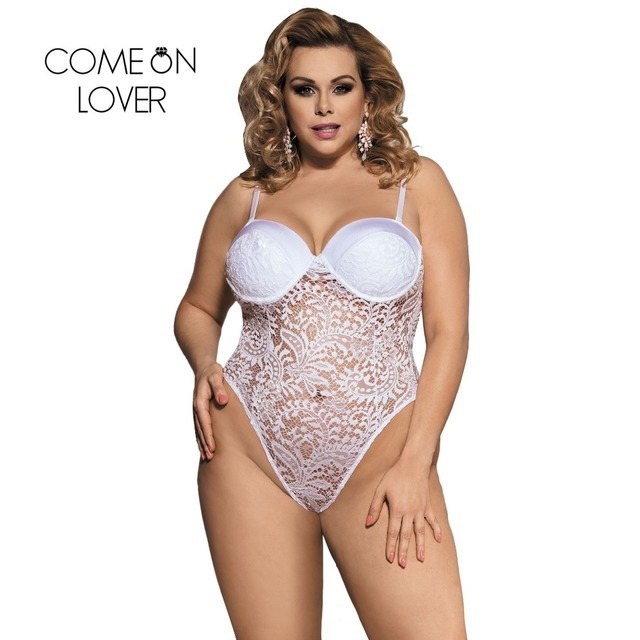 215f79230 Comeonlover Lace Bodysuit Lingerie Plus Size Push Up Cup Lace Lingerie Body  Sexy Transparent Body Sheer Bodysuit Sexy RI80285