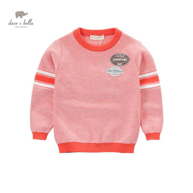 DK0662 dave bella primavera meninos moda casual de algodão novas malhas