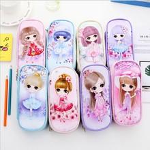 где купить Kawaii Girls Pencil Case Cute Animal Big Capacity Pencil pen bag Box Stationery Pouch gift School Supplies Zakka по лучшей цене