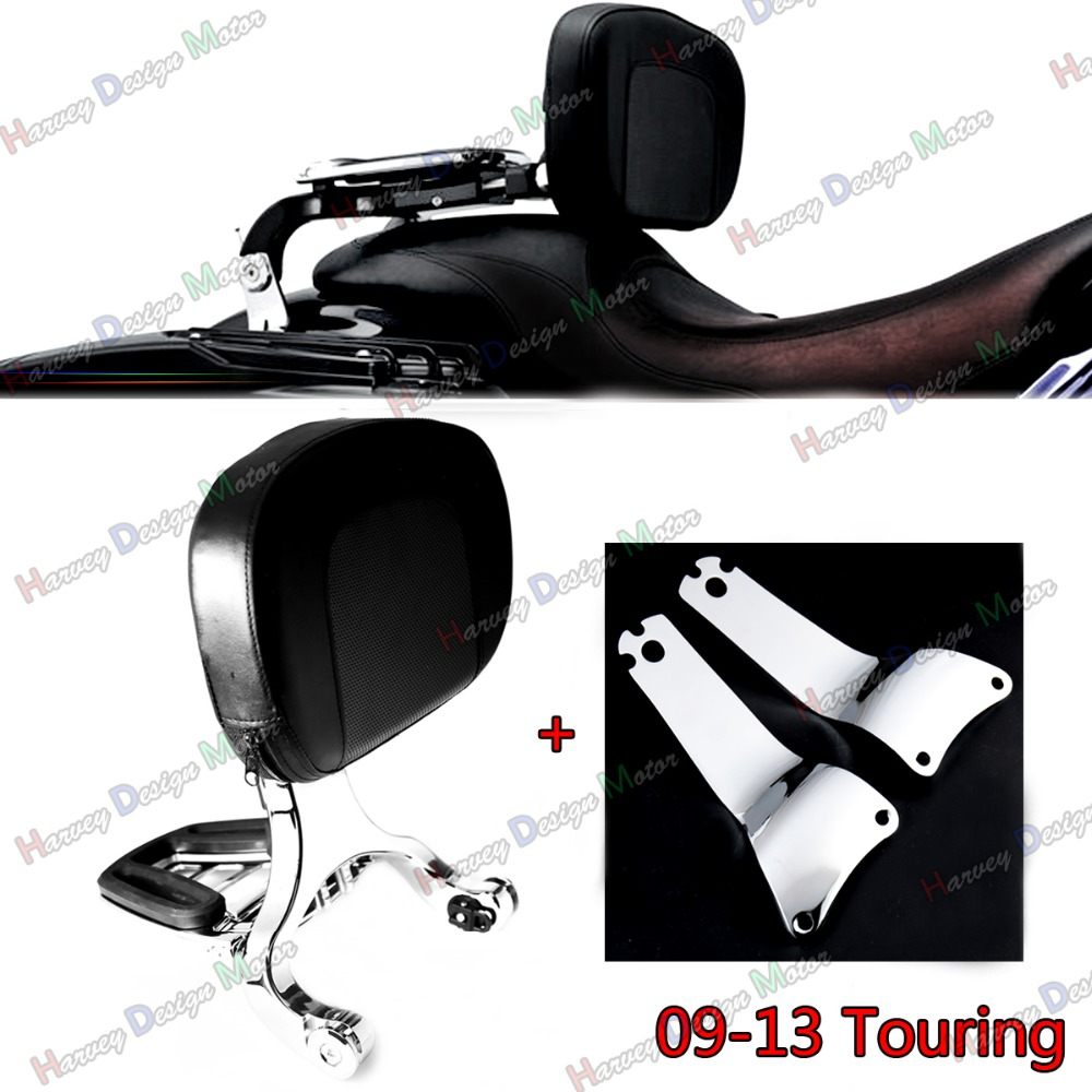 High Fixed Mount&Driver Passenger Backrest For Harley Touring Road King Street Glide FLHX FLHR 2009-2013 Models