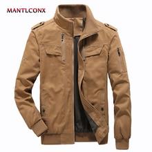 MANTLCONX 2019 Autumn Casual Jacket Men Cargo Coats Pilot Bomber Military Mens Overcoats Plus Size 5XL 6XL
