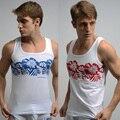 Top camisas dos homens do algodão Stretch nova moda masculina Top Desgaste Casa Vestindo Tamanho M L XL XXL