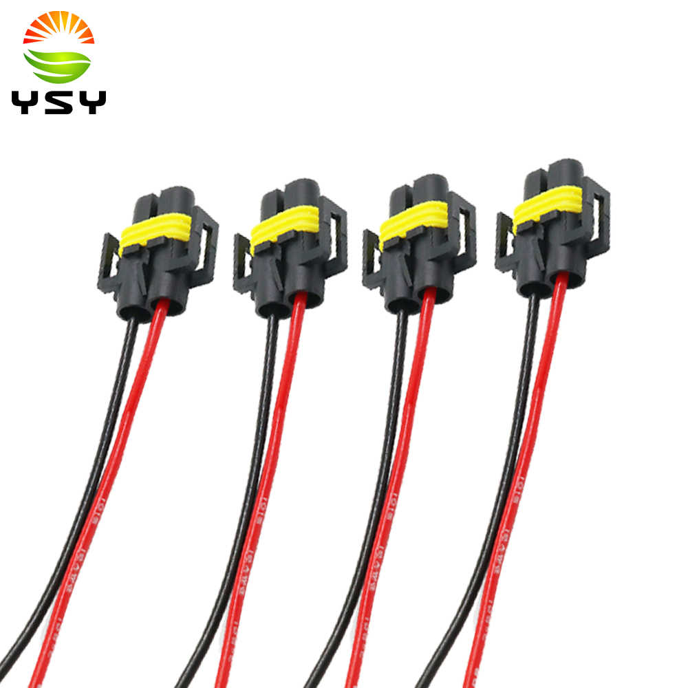 Detail Feedback Questions About Ysy 4x H8 H11 Female Adapter Wiring Automotive Harness Connector Socket Car Auto Bulb Wire Cable Plug