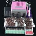 Chegada nova Pro Electric Nail Broca Deivce 18 W 25000 RPM 220 V/110 V Máquina de Polimento Da Arte Do Prego com Broca Bits Pedal