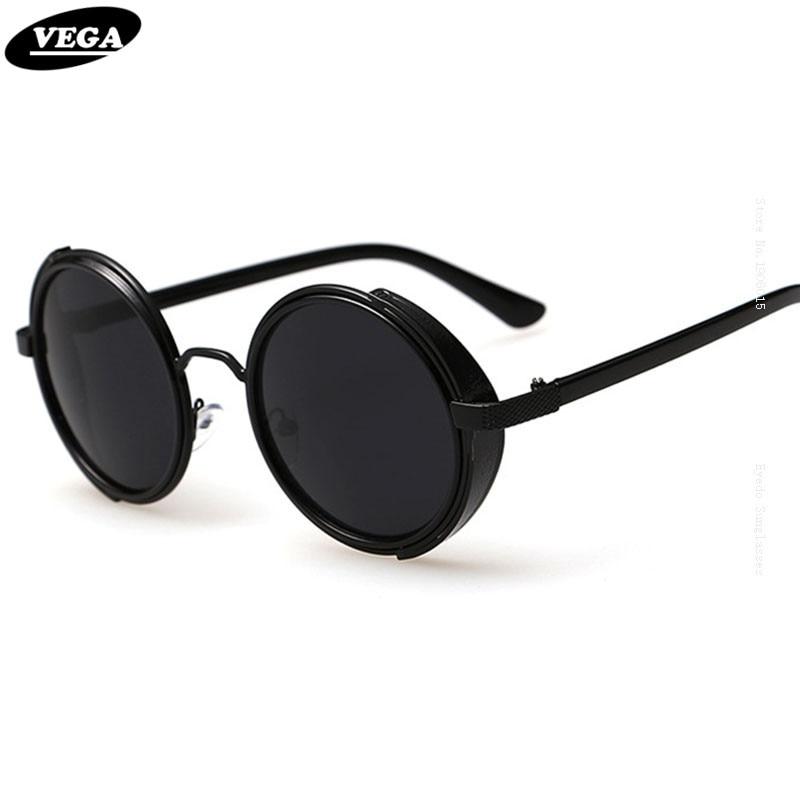 b881f2ae4dc351 VEGA 80 s 90 s Steampunk lunettes de Soleil Hommes Femmes Unique Cercle  Hippie lunettes de Soleil Gothique Hippie Lunettes Vintage Lunettes 3064