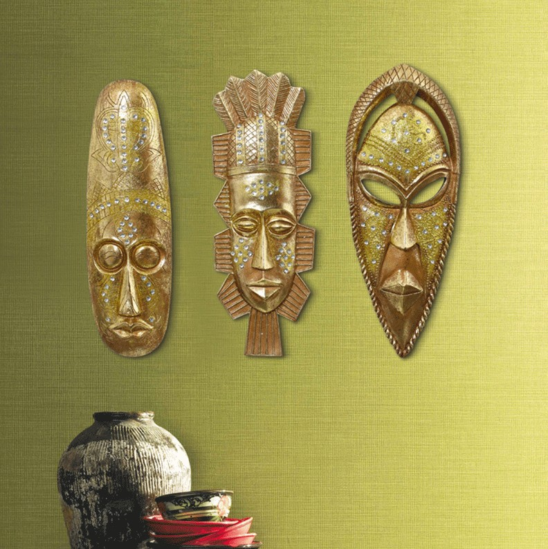 Egyptian retro resin decorative mask wall hanging African Face ...