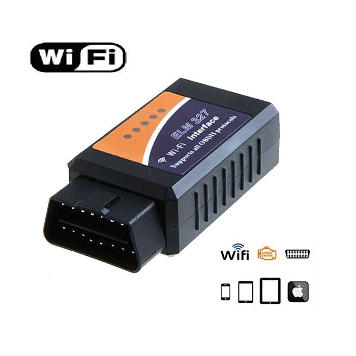 Prix pour ELM327 WIFI V1.5 version Autommoble OBD2 Auto Outil De Diagnostic OBDII Scanner ELM 327 Wi-Fi sans fil Pour Voitures Camions
